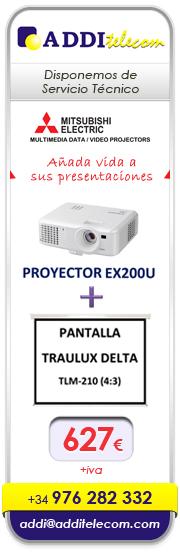 ADDItelecom: Proyector y pantalla por 627 euros más iva