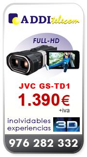 ADDItelecom: JVC GS-TD1, inolvidables experiencias en 3D
