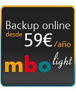 Backup online desde 50 euros/a�o | MBO light
