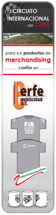 El Circuito Internacional de Zuera para sus productos de merchandising confía en Erfe Publicidad, S.L.